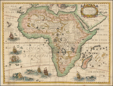 Africa and Africa Map By Petrus Bertius