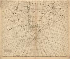 South America Map By John Senex / Edmund Halley / Nathaniel Cutler