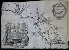 Southeast, North Carolina and South Carolina Map By Richard Blome