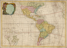 South America, Oceania, Other Pacific Islands and America Map By Jean-Baptiste Nolin