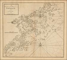 Scandinavia and Sweden Map By John Senex / Edmund Halley / Nathaniel Cutler
