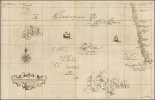 Atlantic Ocean and South Africa Map By Robert Dudley