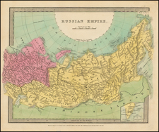 Russia and Russia in Asia Map By David Hugh Burr
