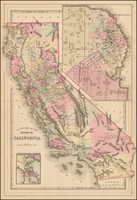 California Map By Samuel Augustus Mitchell Jr.