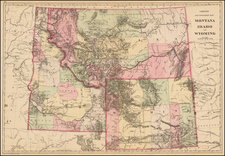 Plains, Rocky Mountains, Idaho, Montana and Wyoming Map By Samuel Augustus Mitchell Jr.