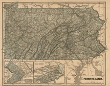 Mid-Atlantic Map By Sidney Morse  &  Samuel Breese