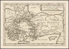 Greece, Turkey and Turkey & Asia Minor Map By Pierre Du Val