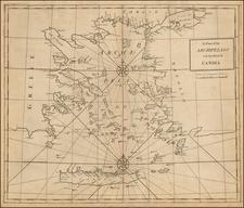 Turkey and Greece Map By John Senex / Edmund Halley / Nathaniel Cutler