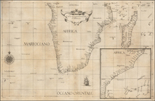 South Africa and African Islands, including Madagascar Map By Robert Dudley