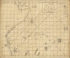 Indian Ocean, East Africa and African Islands, including Madagascar Map By John Senex / Edmund Halley / Nathaniel Cutler