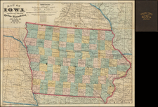 Iowa Map By Rufus Blanchard