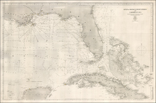 Florida, South and Caribbean Map By U.S. Hydrographical Office