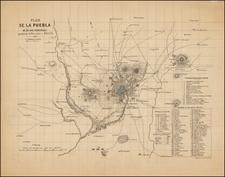 Mexico Map By Eugène Andriveau-Goujon