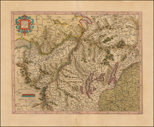 Switzerland and Italy Map By Henricus Hondius - Gerhard Mercator