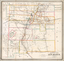 New Mexico Map By W.R. Morley