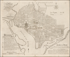 Washington, D.C. Map By Samuel Hill / Andrew Ellicott