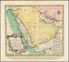 Middle East and Arabian Peninsula Map By J.V. Schley