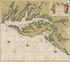 Mid-Atlantic, Southeast and Virginia Map By Johannes Van Keulen