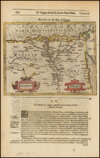 Middle East, Egypt and North Africa Map By Jodocus Hondius / Samuel Purchas