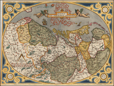 Netherlands and Luxembourg Map By Abraham Ortelius