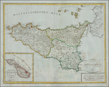 Italy and Balearic Islands Map By Weimar Geographische Institut