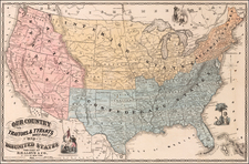 United States Map By H.H. Lloyd