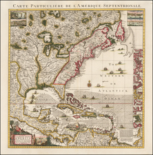 United States, North America and Canada Map By Covens & Mortier / Henry Popple