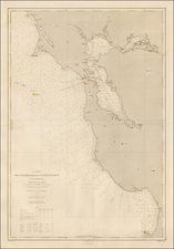 California and San Francisco & Bay Area Map By Depot de la Marine
