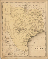 Texas Map By A.N. Olney