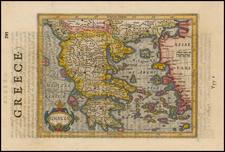 Greece Map By Jodocus Hondius / Samuel Purchas