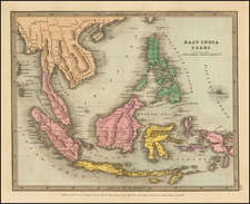 Southeast Asia, Philippines and Indonesia Map By David Hugh Burr