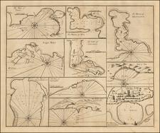 Turkey, Mediterranean, Middle East, Egypt and North Africa Map By John Senex / Edmund Halley / Nathaniel Cutler