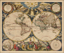 World and World Map By Pieter Goos