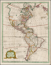 South America and America Map By Marco Coltellini