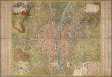 Paris Map By Alexis-Hubert Jaillot