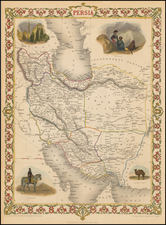 Central Asia & Caucasus and Middle East Map By John Tallis