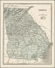Southeast and Georgia Map By Sidney Morse  &  Samuel Breese