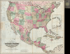 United States Map By G.W.  & C.B. Colton