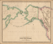 Polar Maps, Alaska, Canada and Western Canada Map By George Philip & Son