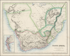 Africa and South Africa Map By Archibald Fullarton & Co.