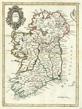 Europe and British Isles Map By Georges Louis Le Rouge