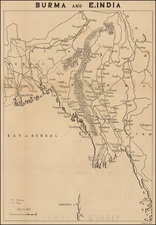 India and Southeast Asia Map By C. P. D.