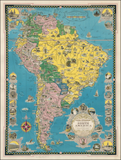South America and Pictorial Maps Map By Ernest Dudley Chase