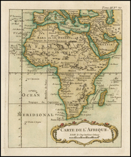 Africa and Africa Map By Jacques Nicolas Bellin
