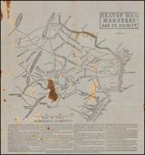 Virginia and Civil War Map By J. Baumgarten