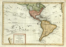 South America, Australia & Oceania, Oceania and America Map By Noel-Antoine Pluche