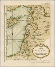 Mediterranean and Holy Land Map By Jacques Nicolas Bellin