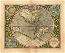 Western Hemisphere and America Map By Michael Mercator