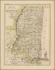 South and Mississippi Map By Joseph Meyer