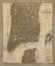 Map of the City of New-York, Drawn by D. H. Burr, for New York as it is in 1846. Population 371,233. By David Hugh Burr